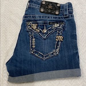 Miss me cuffed denim jeans shorts SZ 27